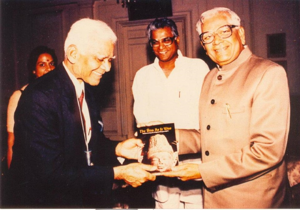 Presenting the Gita as it Was to President R. Venkataraman