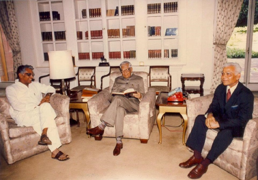 With the President RK Narayan