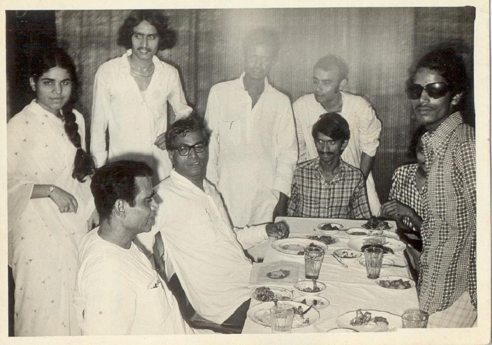 Dr. Sinha with George Fernandes
